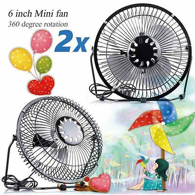 2 x Mini Portable USB Fan Quiet Desktop Desk Silent Cooler Cooling For Laptop PC