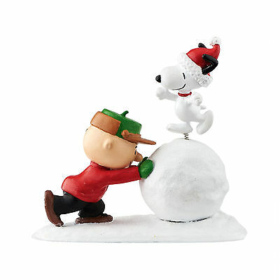 Peanuts Snoopy Charlie Brown Snowball Dancing Figure by Department 56