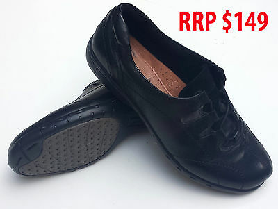 Barani Ladies Shoes Rachael Black Leather Sz 10 Nurse Nursing Uniform