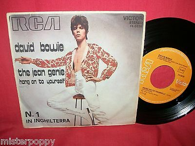 "DAVID BOWIE The Jean Genie/Hang on to yourself 7"" 45rpm PS 1973 ITALY EX TOP!!!"