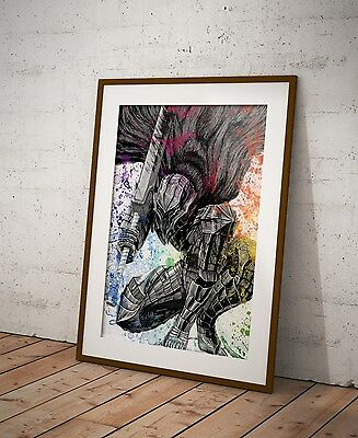 Berserk Anime Poster Anime Watercolor Wall Decor Otaku Anime Poster Gift R3