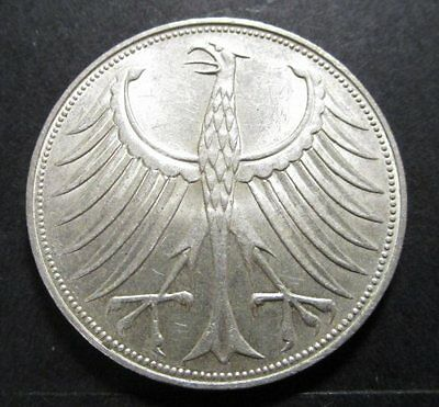 West Germany - 5 Mark Silver Coin - 1967