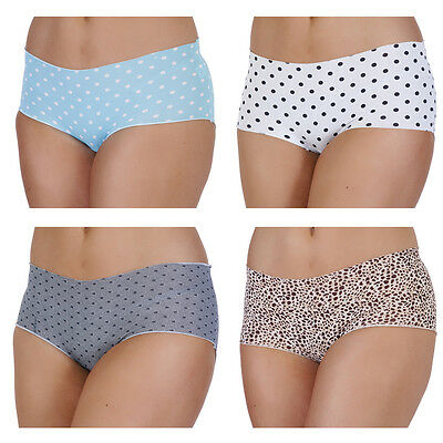 New 4 Pack Ladies Womens No Vpl Briefs Pants Knickers Shorts Underwear 10-16