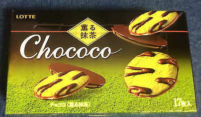 1 x Lotte Chococo Matcha / Japanese Green Tea Chocolate Biscuits