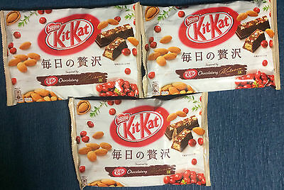 3 bags NEW Fruit and Nut KitKat / Kit Kat - Nestle Japan - Japanese Chocolate