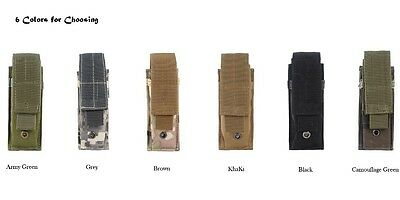 Molle Tactical Single Mag Magazine Pouch Open Top Pistol Cartridge Clip Pouch S