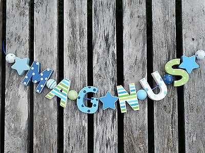 """""""magnus"""" Wooden Letters Letter Door Name Baby Shower Decoration  Shabby Chic"""
