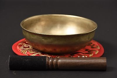 Antique Unique Hand Hammered Singing Bowl Note A# ID AM20