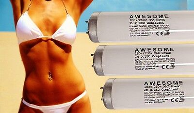 BRAND NEW 250watt AWESOME MAX POWER 0.3 COMPLIANT 2mtr SUNBED TANNING LAMP TUBES