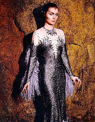 1975's SPACE: 1999 Catherine Schell Psychon gown color 8x10 costume portrait #1