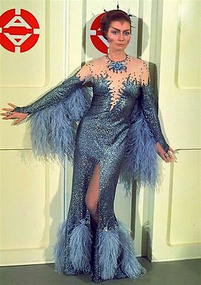 1975's SPACE: 1999 Catherine Schell Psychon gown color 8x10 costume portrait #2