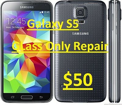 Samsung Galaxy S5 Cracked Screen Glass Repair Replacement Mail In Service