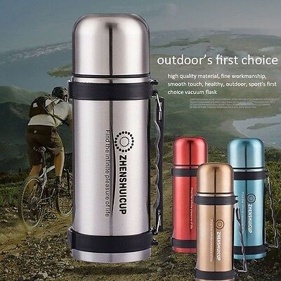 1.2L Large Outdoor Stainless Steel Travel Mug Thermos Vacuum Flask Bottle