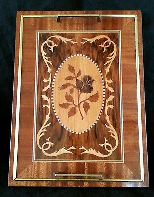 Exquisite vintage Italian inlay wood serving tray
