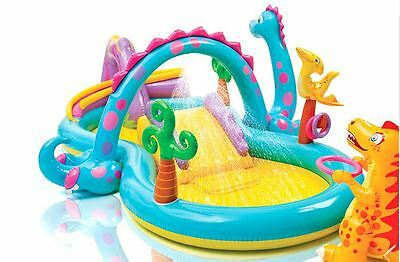 Kids Water Pool Surf and Slide Dinoland Toys Inflatable Intex Water Park Play