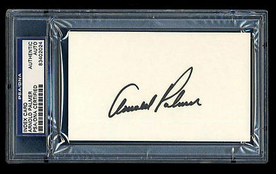 Arnold Palmer Signed Index Card Mint Psa/dna Slabbed Autographed