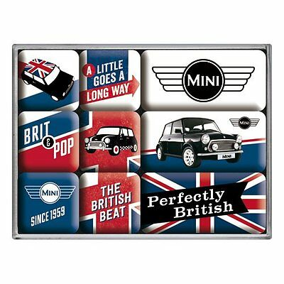 Nostalgic-Art 83079 Magnet-Set Mini Union Jack, 9-teilig