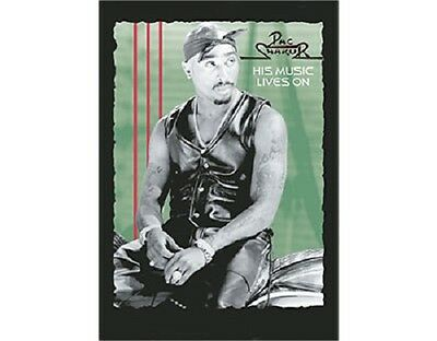 # 2PAC - HIS MUSIC LIVES ON LOGO - OFFICIAL TEXTILE POSTER FLAG tupac shakur