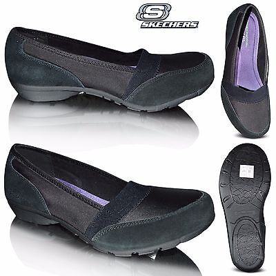 womens skechers career 9 to 5 memory foam slip on flat. Black Bedroom Furniture Sets. Home Design Ideas
