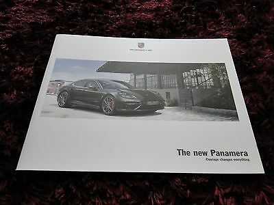 Porsche Panamera Brochure 2017 - New Model - First brochure issued
