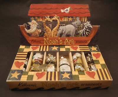 Katherine's Collection Noah's Ark Boxed Christmas Ornaments 2002