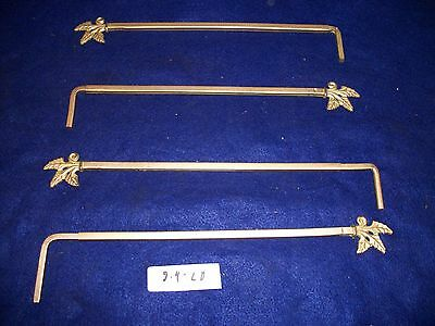 Lot Of 4  Vintage-Old-Antique- Castiron Swing A Way Drapery -Curtain Rods-