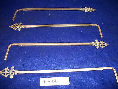 Lot Of 4  Vintage-Antique-Old- Cast Metal Swing A Way Drapery -Curtain Rods-