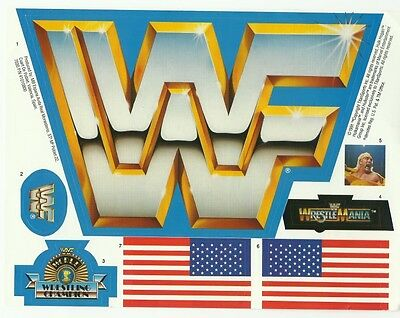 Replacement Sticker Label Sheet Vintage Hasbro Wwf Official Wrestling Ring Blue