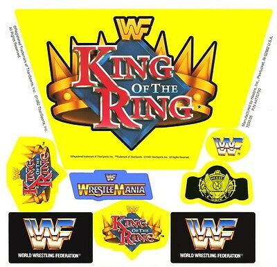 Replacement Sticker Sheet Vintage Hasbro Wwf King Of The Ring Wrestling Ring
