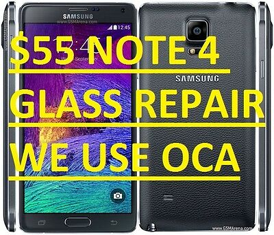 Samsung Galaxy Note 4 Broken Glass Screen Repair Mail-In Service