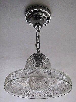 "AWESOME! Antique ""GE"" Street Light Shade Pendant Light Fixture - Refurbished!"