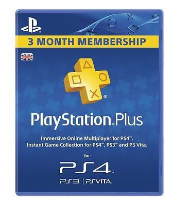 Sony PlayStation Plus Card - 90 Day Subscription (PlayStation Vita/PS3/PS4)