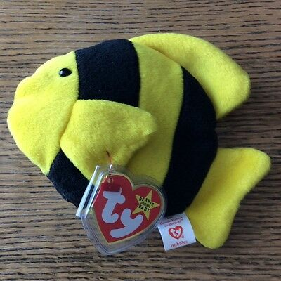 73e7c4c42f0 TY BEANIE BABY - BUBBLES the fish (4th Gen hang tag) (6 inch) MWMT s ...