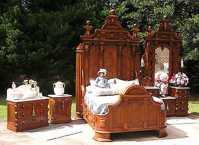 Awesome Victorian Mitchell & Rammelsberg  Walnut Bedroom Set