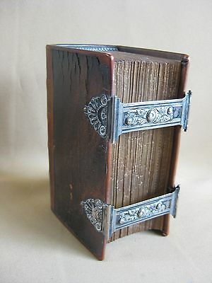 Antique Dutch Bible with Silver Locks 1849