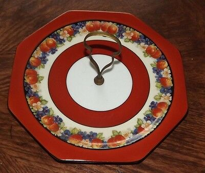 Vintage Cake/Goodie Plate with Brass Handle