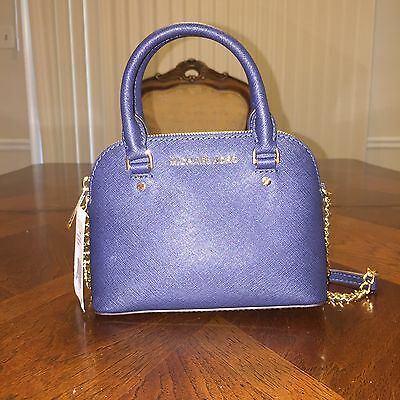 a03e3a0147a7c NWT MICHAEL MICHAEL Kors Cindy Mini XS Crossbody in Navy -  125.00 ...