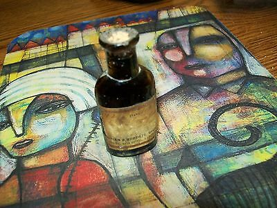 Vintage / Antique 1904 Empty Glass Medicine Bottle, Manitowoc Wisconsin Pharmacy