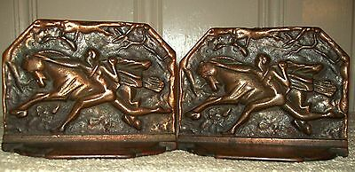 AUGUST Sale!   HORSE TAMER CAST IRON BOOKENDS