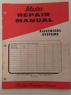 Ford Master Repair Manual -Electrical Systems Ford cars , Meteor Cars 1956