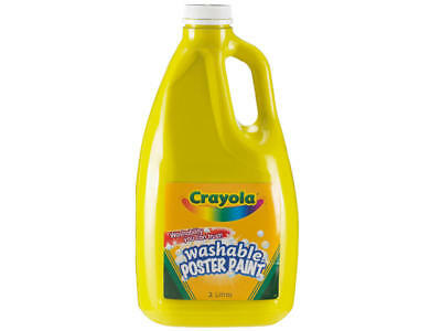 Crayola Non-toxic Washable  Poster Paint 2 Litres Yellow