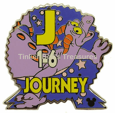 DISNEY Cast Lanyard Pin - Epcot Parking Sign - Figment J Journey - WDW Series 3