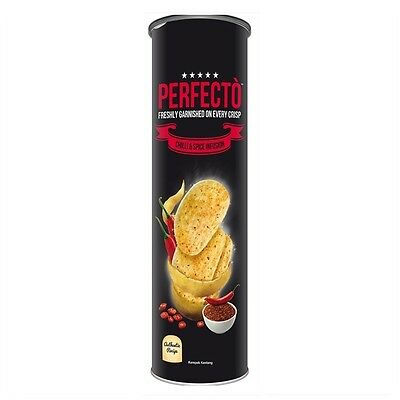 PERFECTO Chilli Spice Infusion Freshly Garnished on Every Crisp Potato Chip 120g