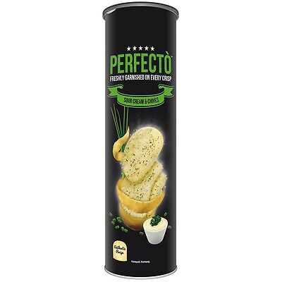 PERFECTO Sour Cream & Chives Freshly Garnished on Every Crisp Potato Chips 120g