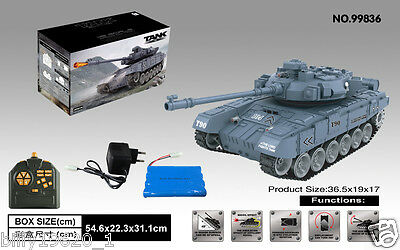 Radio remote controlled RC tank T90 BB shooting Sounding Barrel Recoil 1/18 UK