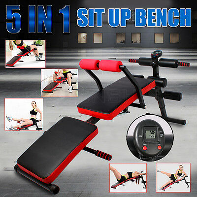 New Adjustable FID Bench Foldable Multi-Station Situp Board Home Gym Exercise OZ