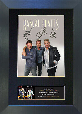 RASCAL FLATTS Signed Mounted Autograph Photo Prints A4 367