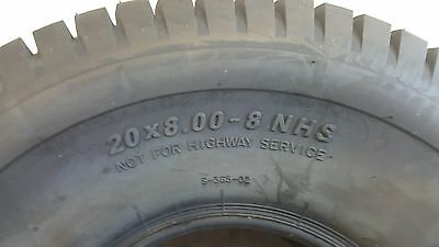 20x8.00-8 NHS AGRO DELITIRE TIRE for Garden Tractor