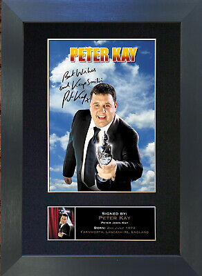 PETER KAY Signed Mounted Autograph Photo Prints A4 323