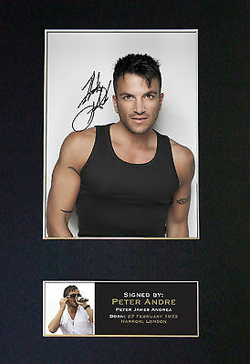 PETER ANDRE Signed Mounted Autograph Photo Prints A4 165